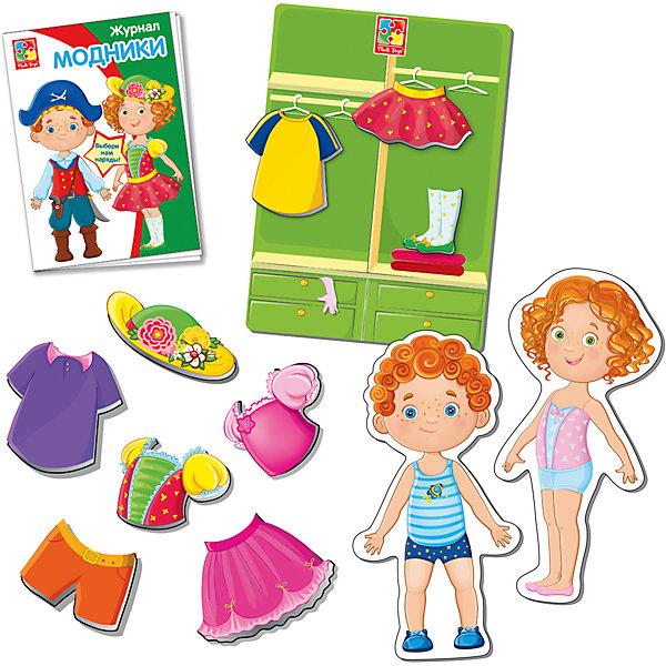 Фото - Vladi Toys Магнитная игра-одевашка Модники, Vladi Toys магнитная игра одевашка vladi toys соня