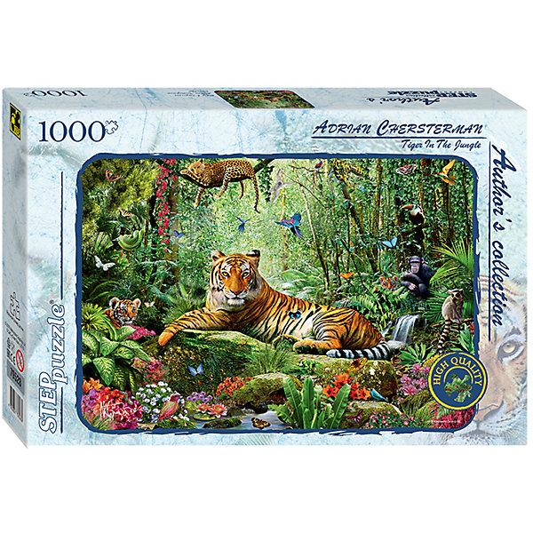 Степ Пазл Пазл Тигр в джунглях (Авторская коллекция), 1000 деталей, Step Puzzle пазл step puzzle 1000 эл авторская коллекция тигр в джунглях