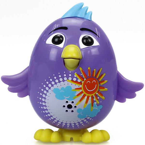 Цыпленок с кольцом Violet, фиолетовый, DigiBirdsИнтерактивные животные<br>Характеристики товара:<br><br>- цвет: фиолетовый;<br>- материал: пластик, металл;<br>- батарейки: 3xAG13/LR44, в комплекте;<br>- размер упаковки: 10x6x15 см;<br>- габариты игрушки: 6 см;<br>- умеет петь.<br><br>Такая игрушка в виде цыпленка поможет ребенку весело проводить время - она умеет петь. Это выглядит очень забавно! Игрушка реагирует на звук от специального свистка, который входит в комплект. Также можно приобрести другие игрушки из этой серии - тогда они будут петь хором!<br>Цыпленок способен помогать всестороннему развитию ребенка: развивать тактильное восприятие, мелкую моторику, воображение, внимание и логику. Изделие произведено из качественных материалов, безопасных для ребенка. Набор станет отличным подарком детям!<br><br>Цыпленка с кольцом Violet, фиолетовый, от бренда DigiBirds можно купить в нашем интернет-магазине.<br>Ширина мм: 200; Глубина мм: 102; Высота мм: 152; Вес г: 122; Возраст от месяцев: 36; Возраст до месяцев: 84; Пол: Женский; Возраст: Детский; SKU: 5138209;