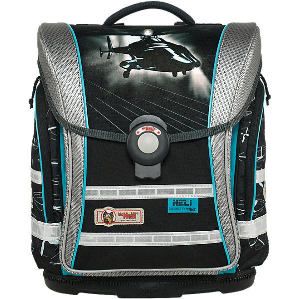 Школьный рюкзак Вертолет MC Neill  ERGO Light COMPACTРанцы<br>Новое в ранцах McNeill ERGO Light COMPACT - Система SmartFlex –  изменяющаяся по высоте несущая система с 3-х точечной эргономикой. Вместимость 19,5 л,  вес ранца 1200 гр, удобный замок, боковые потайные карманы на молниях, дно из особо прочного пластика, ортопедическая спина, регулируемые ремни на мягких подушках.  В наборе  пенал с наполнением, пенал-тубус, сумка для обуви и спорта.     33*38*20см<br>Ширина мм: 433; Глубина мм: 360; Высота мм: 269; Вес г: 2017; Цвет: черный/белый; Возраст от месяцев: 60; Возраст до месяцев: 120; Пол: Мужской; Возраст: Детский; SKU: 5139501;
