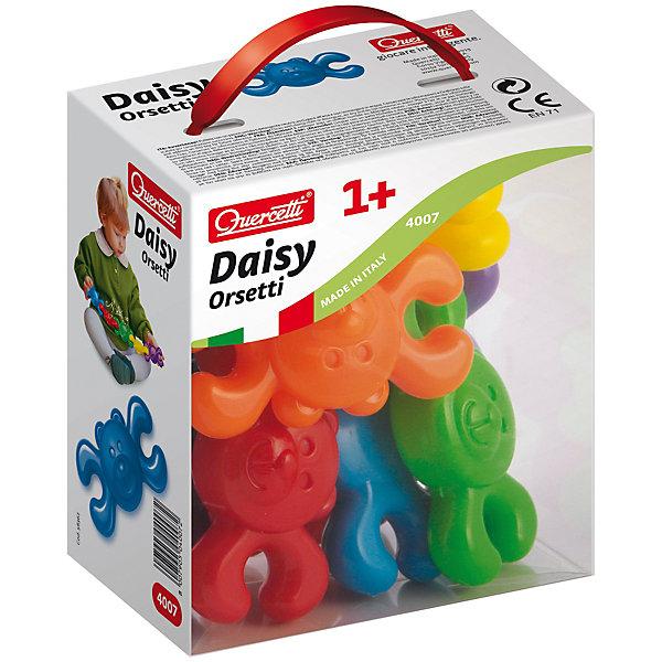 Конструктор Мишки, 8 деталей, QuercettiПластмассовые конструкторы<br>Конструктор Мишки, 8 деталей, Quercetti (Кверсетти).<br><br>Характеристики:<br><br>- В наборе: 10 фигурок мишек 6-ти различных цветов<br>- Материал: высококачественный пластик, окрашенный нетоксичными красками<br>- Упаковка: картонная коробка с ручкой<br>- Размер упаковки: 14х16х9 см.<br>- Вес: 200 гр.<br><br>Конструктор Мишки от Quercetti (Кверсетти) принесет множество позитивный эмоций вашему малышу. Яркие цветные детали в виде улыбающихся мишек привлекут внимание ребенка, а легкий вес позволит играть с ними очень долго. Все детали соединяются между собой при помощи универсальных креплений, позволяя малышу построить свою собственную конструкцию или цепочку. С помощью этого простейшего конструктора ваш малыш научится не только соединять детали, но и сортировать их по цвету. Удобные крупные детали безопасны для малышей и легко моются. Конструктор «Мишки» идеально подходит для развития мелкой моторики рук, тактильных ощущений и цветовосприятия, укрепляет и развивает координацию движений.<br><br>Конструктор Мишки, 8 деталей, Quercetti (Кверсетти) можно купить в нашем интернет-магазине.<br>Ширина мм: 140; Глубина мм: 90; Высота мм: 160; Вес г: 183; Возраст от месяцев: 12; Возраст до месяцев: 2147483647; Пол: Унисекс; Возраст: Детский; SKU: 5140068;