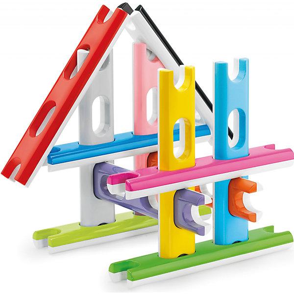 Строительный конструктор для самых маленьких, 12 деталей, QuercettiПластмассовые конструкторы<br>Строительный конструктор для самых маленьких, 12 деталей, Quercetti (Кверсетти).<br><br>Характеристики:<br><br>- В наборе: 12 разноцветных деталей в виде строительных блоков-досок<br>- Материал: высококачественный пластик, окрашенный нетоксичными красками<br>- Упаковка: картонная коробка<br>- Размер упаковки: 30 х 30 х 4 см.<br>- Вес: 1250 гр.<br><br>Строительный конструктор Quercetti (Кверсетти), несомненно, заинтересует вашего малыша. Он разработан специально для самых маленьких детей. Каждая из деталей конструктора имеет по два отверстия, с помощью которых можно закреплять другие детали в разных плоскостях. Края деталей имеют выемки, с помощью которых элементы соединяются в длину, в одной плоскости. Ваш малыш сможет создать самые простые конструкции, не требующие соединения деталей, такие как: заборчик или геометрические фигуры в одной плоскости, можно построить дорогу или небоскреб. Продевая детали, сквозь специальные отверстия, можно создавать объемные конструкции, такие как куб или домик. Строительный конструктор для самых маленьких активизирует мыслительный процесс, развивает воображение, внимание, цветовосприятие, знакомит с понятиями плоскость и объем. Удобные детали изготовлены из безопасного пластика, окрашены нетоксичными гипоаллергенными красками, легко моются.<br><br>Строительный конструктор для самых маленьких, 12 деталей, Quercetti (Кверсетти) можно купить в нашем интернет-магазине.<br>Ширина мм: 300; Глубина мм: 40; Высота мм: 300; Вес г: 745; Возраст от месяцев: 60; Возраст до месяцев: 2147483647; Пол: Унисекс; Возраст: Детский; SKU: 5140069;