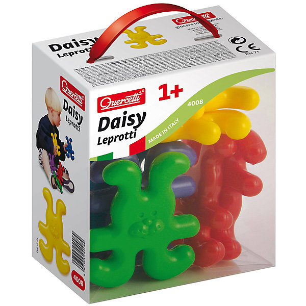 Конструктор Зайчики, 8 деталей, QuercettiПластмассовые конструкторы<br>Конструктор Зайчики, 8 деталей, Quercetti (Кверсетти).<br><br>Характеристики:<br><br>- В наборе: 8 фигурок зайчиков 4-х различных цветов<br>- Материал: высококачественный пластик, окрашенный нетоксичными красками<br>- Упаковка: картонная коробка с ручкой<br>- Размер упаковки: 14 х 16 х 9 см.<br>- Вес: 200 гр.<br><br>Конструктор Зайчики от Quercetti (Кверсетти) принесет множество позитивный эмоций вашему малышу. Яркие цветные детали в виде улыбающихся зайчиков привлекут внимание ребенка, а легкий вес позволит играть с ними очень долго. Все детали соединяются между собой при помощи универсальных креплений, позволяя малышу построить свою собственную конструкцию или цепочку. С помощью этого простейшего конструктора ваш малыш научится не только соединять детали, но и сортировать их по цвету. Удобные крупные детали безопасны для малышей и легко моются. Конструктор «Зайчики» идеально подходит для развития мелкой моторики рук, тактильных ощущений и цветовосприятия, укрепляет и развивает координацию движений.<br><br>Конструктор Зайчики, 8 деталей, Quercetti (Кверсетти) можно купить в нашем интернет-магазине.<br>Ширина мм: 140; Глубина мм: 90; Высота мм: 160; Вес г: 183; Возраст от месяцев: 12; Возраст до месяцев: 2147483647; Пол: Унисекс; Возраст: Детский; SKU: 5140083;