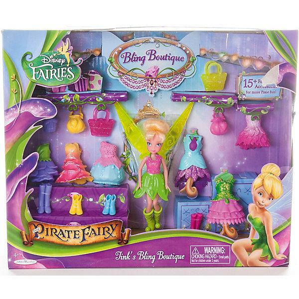 Купить Игровой набор Disney Fairy Бутик с мини-куклой. Фея Динь-Динь, Jakks Pacific, Китай, Женский