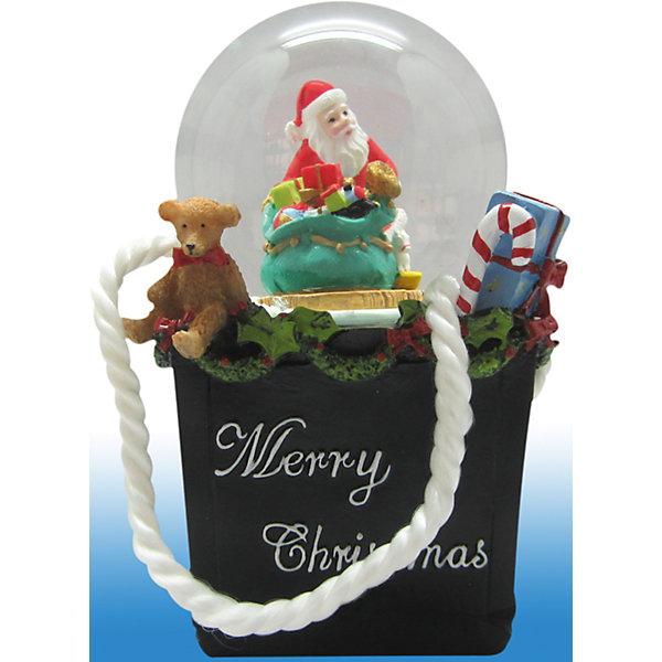 Феникс-Презент Новогодняя фигурка с водяным шаром (полирезина,стекло)