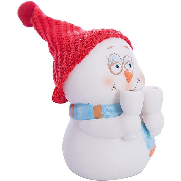 Феникс-Презент Фигурка Снеговик с бокалами 8 см, керамика