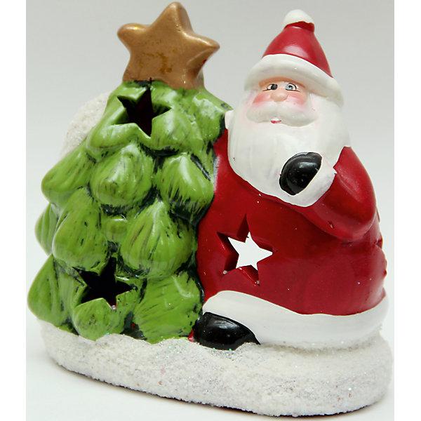 Феникс-Презент Подсвечник из керамики Дед Мороз с елочкой 12,5*7*14 см подсвечник снежинка 13 7 см дерево металл