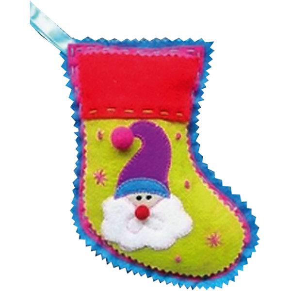 Феникс-Презент Украшение из ткани Носок 18 см новогоднее подвесное украшение феникс презент кленовый лист