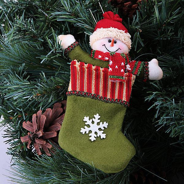 Феникс-Презент Новогоднее подвесное украшение (полиэстер) новогоднее подвесное украшение it s a happy day переплетение цвет прозрачный серебристый диаметр 8 см