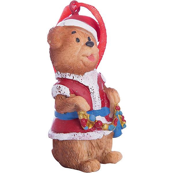 Украшение Мишка в костюме Деда Мороза 3,5*3*8 смЁлочные игрушки<br>Новогоднее подвесн.украш. Мишка в костюме Деда Мороза арт.34590/8 (3,5*3*8 см, из полирезины) арт.34590<br>Ширина мм: 35; Глубина мм: 30; Высота мм: 80; Вес г: 85; Возраст от месяцев: 60; Возраст до месяцев: 600; Пол: Унисекс; Возраст: Детский; SKU: 5144710;