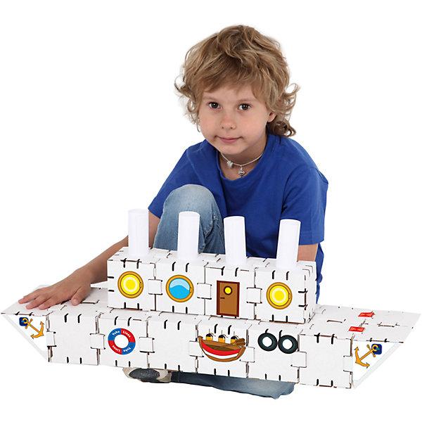 Картонный конструктор Титаник, YohocubeКартонные конструкторы<br>Картонный конструктор Титаник, Yohocube (Йохокуб). <br><br>Характеристика:<br><br>• Материал: усиленный картон (1,5 мм). <br>• Размер упаковки: 37х31х5,5 см. <br>• Размер одного кубика: 8 см. <br>• 20 деталей. <br>• Оригинальный дизайн. <br>• Развивает моторику рук, внимание, пространственное мышление и воображение. <br><br>С помощью этого оригинального конструктора ребенок сможет собрать роскошный корабль. Размер кубиков идеально подходит для детских рук. Простые и удобные крепления позволят ребенку собирать конструктор без помощи взрослых. Все детали изготовлены из высококачественного прочного картона с применением нетоксичных безопасных красителей. Игры с конструктором полезное и очень увлекательное занятие, развивающее внимание, мелкую моторику, пространственное мышление и воображение. <br><br>Картонный конструктор Титаник, Yohocube (Йохокуб), можно купить в нашем интернет-магазине.<br>Ширина мм: 370; Глубина мм: 310; Высота мм: 55; Вес г: 620; Возраст от месяцев: 72; Возраст до месяцев: 144; Пол: Унисекс; Возраст: Детский; SKU: 5154035;