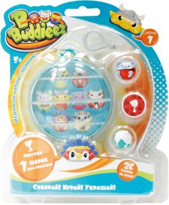 Набор Bbuddieez: шарик-шкатулка с подвеской и 3 шарма-персонажа, 1toy