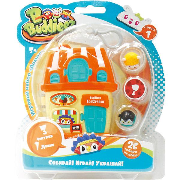 1Toy Набор Bbuddieez Оранжевый домик для хранения с подвеской, 3 шарма-персонажа, 1toy игровой набор 1toy вантой bbuddieez набор 10 шармов 2 браслета 23 19 2см