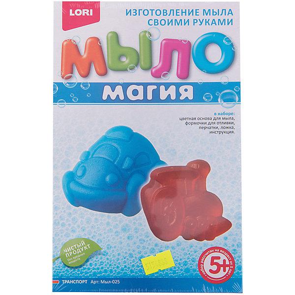 МылоМагия ТранспортНаборы для создания мыла и свечей<br>Характеристики товара:<br><br>• цвет: разноцветный<br>• размер упаковки: 20х14х4 см<br>• вес: 160 г<br>• комплектация: основа для мыла, емкость для растапливания, 2 формы для заливки мыльного раствора, пищевой краситель, пипетка, перчатки, ложка инструкция<br>• возраст: от пяти лет<br>• страна бренда: РФ<br>• страна изготовитель: РФ<br><br>Этот набор для творчества станет отличным подарком ребенку - ведь с помощью него можно получить красивое мыло! В набор входит основа для мыла, емкость для растапливания, 2 формы для заливки мыльного раствора, пищевой краситель, пипетка, перчатки, ложка инструкция. Чтобы получить мыло, ребенку нужно следовать указаниям инструкции. В итоге получается полезная вещь или подарок родным.<br>Детям очень нравится что-то делать своими руками! Кроме того, творчество помогает детям развивать важные навыки и способности, оно активизирует мышление, формирует усидчивость, творческие способности, мелкую моторику и воображение. Изделие производится из качественных и проверенных материалов, которые безопасны для детей.<br><br>Набор МылоМагия Транспорт от бренда LORI можно купить в нашем интернет-магазине.<br>Ширина мм: 208; Глубина мм: 135; Высота мм: 40; Вес г: 130; Возраст от месяцев: 60; Возраст до месяцев: 108; Пол: Мужской; Возраст: Детский; SKU: 5154888;