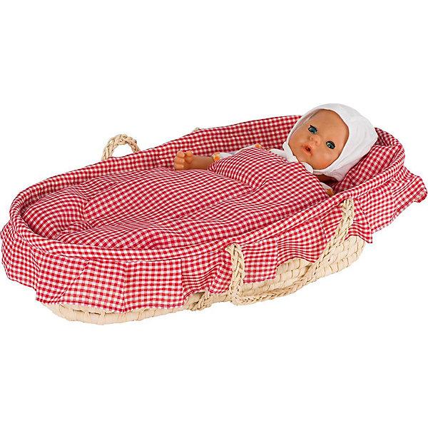 Фотография товара люлька-корзина для кукол с бельём, goki (5155311)