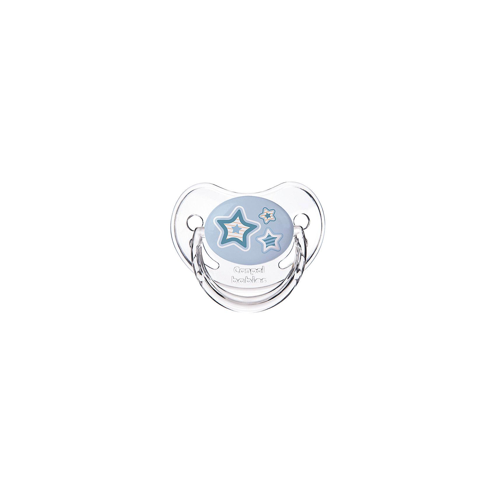 Пустышка анатомическая силиконовая, 6-18 Newborn baby, Canpol Babies, голубой