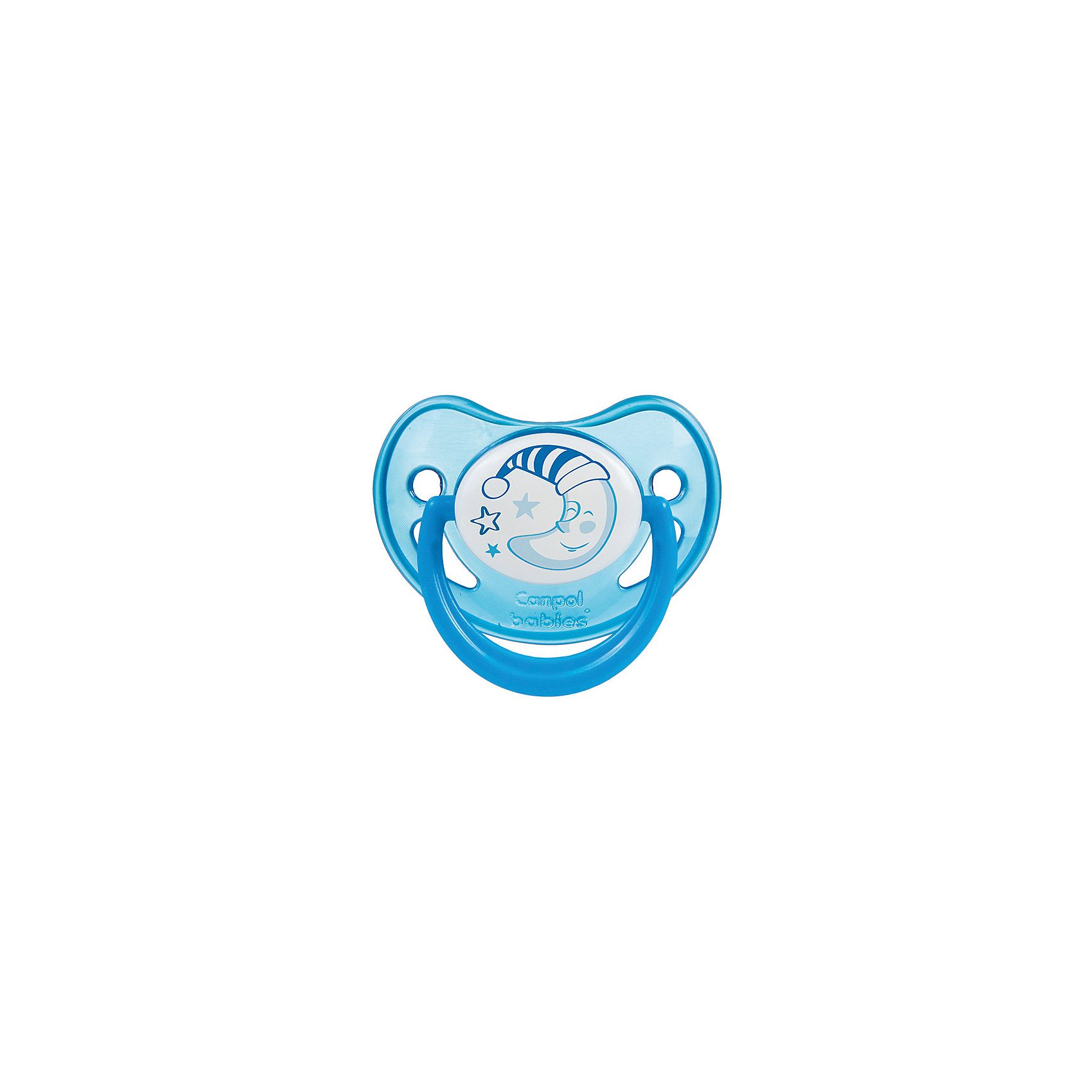 Пустышка анатомическая силиконовая, 6-18 Night Dreams, Canpol Babies, синий