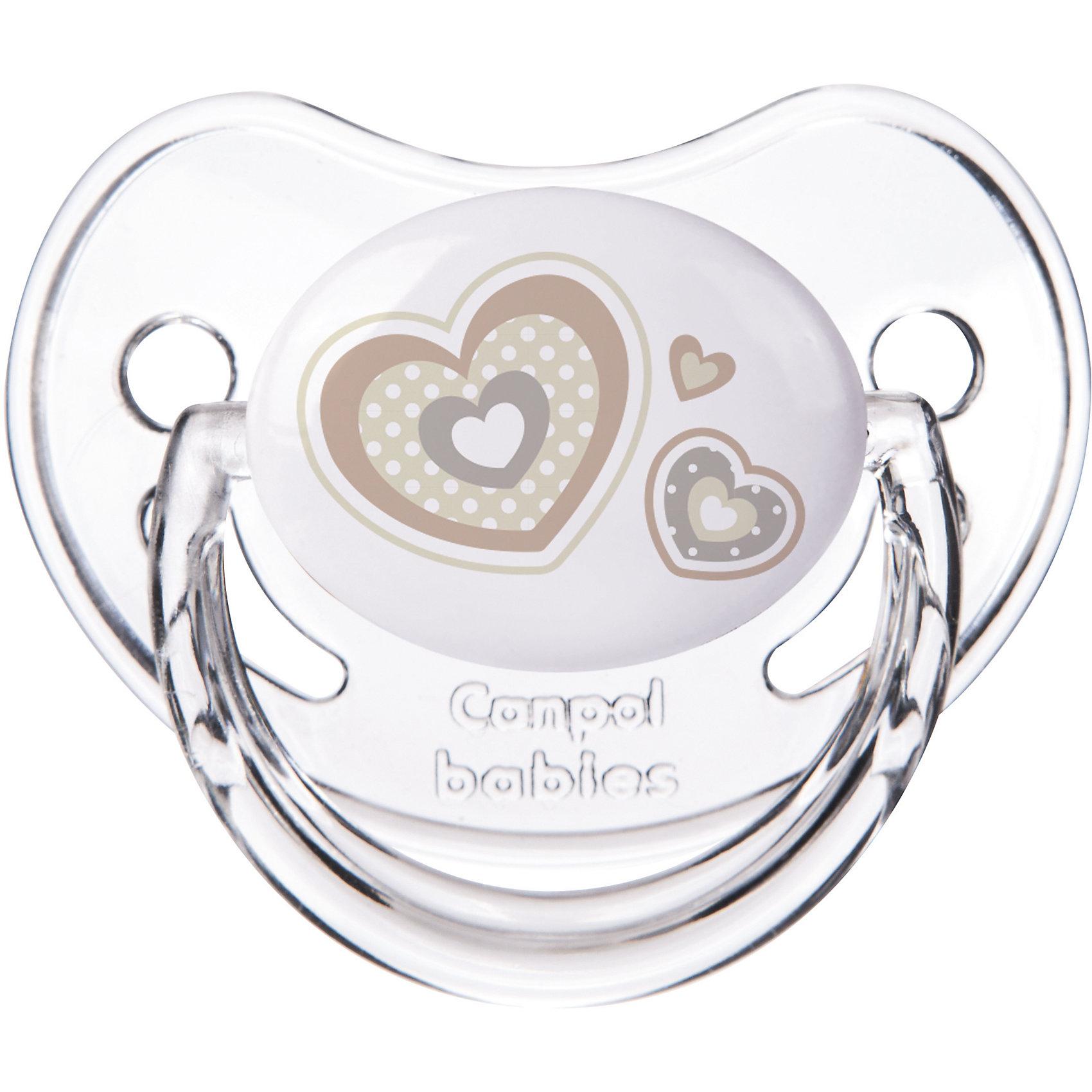Пустышка симметричная силиконовая, 6-18 Newborn baby, Canpol Babies, белый