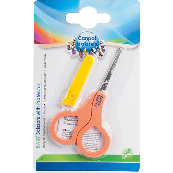 Canpol Babies Ножницы безопасные в чехле, 0+, Canpol Babies, оранжевый canpol babies ножницы детские цвет голубой