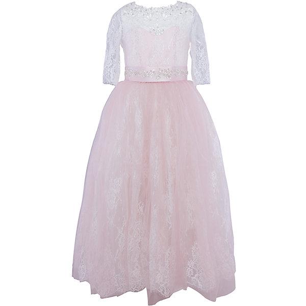 Платье нарядное ПрестижОдежда<br>Характеристики товара:<br><br>• цвет: светло-розовый;<br>• состав : 100% полиэстер;<br>• подкладка: 100% хлопок;<br>• особенности: праздничная;<br>• платье подходит для занятий бальными танцами;<br>• коллекция: Veronikaiko;<br>• сезон: круглый год;<br>• тематика рисунка: цветы;<br>• силуэт: А-силуэт;<br>• юбка: солнце;<br>• рукав: 3/4;<br>• вырез горловины: круглый;<br>• длина платья: макси;<br>• застежка: молния на спинке;<br>• в комплекте предусмотрен пояс, декорированный стразами;<br>• особенности ухода: ручная стирка при температуре не более 30 градусов.<br><br>Платье нарядное для девочки Престиж от отечественного производителя праздничной одежды и аксессуаров как для взрослых, так и для детей. Изделие выполнено из 100% полиэстера, который обладает легкостью, прочностью, устойчивостью к износу и пятнам.<br><br>Платье отрезное по талии, имеет классический А-силуэт, круглую горловину и пышную юбку макси. Верх платья выполнен в стиле корсета с кружевом и рукавами 3/4. Платье выполнено в ярком красном цвете. В комплекте предусмотрен пояс, декорированный стразами.<br><br>Платье нарядное для девочки Престиж – это неповторимый стиль вашей девочки на любом торжестве!<br><br>Платье нарядное для девочки Престиж можно купить в нашем интернет-магазине.<br>Ширина мм: 236; Глубина мм: 16; Высота мм: 184; Вес г: 177; Цвет: светло-розовый; Возраст от месяцев: 72; Возраст до месяцев: 84; Пол: Женский; Возраст: Детский; Размер: 116,134,128,122; SKU: 5158428;