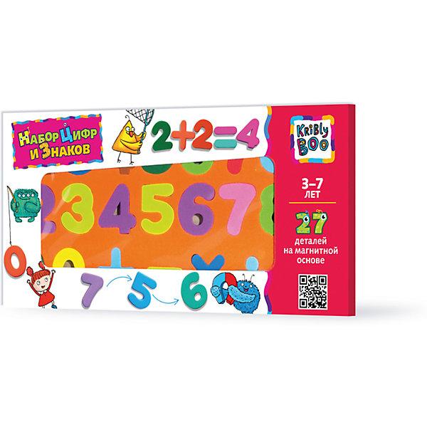 Купить Набор цифр и знаков магнитные, 27 деталей, Kribly Boo, Китай, Унисекс