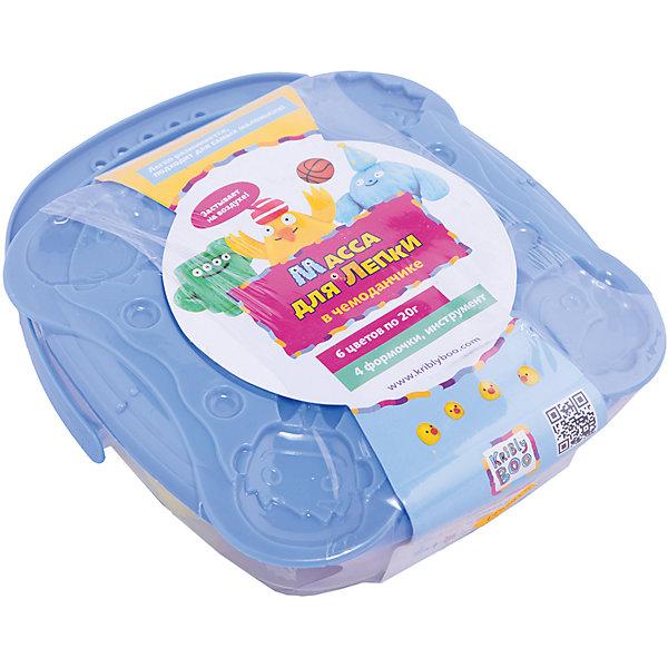 Масса для лепки в чемоданчике с формочками, 6 шт. 20 гМасса для лепки<br>Характеристики товара:<br><br>• цвет: разноцветный<br>• размер упаковки: 15 x 5 x 18 см<br>• вес: 300 г<br>• комплектация: 6 баночек, чемоданчик, формочки<br>• вес одной баночки с массой: 20 г<br>• затвердевает на воздухе<br>• возраст: от трех лет<br>• упаковка: чемоданчик<br>• страна бренда: Финляндия<br>• страна изготовитель: Китай<br><br>Такой набор станет отличным подарком ребенку - ведь с помощью массы для лепки создавать фигуры легко и весело! В набор входят баночки с массой базовых цветов. Масса потом сама затвердевает на воздухе!<br>Детям очень нравится что-то делать своими руками! Кроме того, творчество помогает детям развивать важные навыки и способности, оно активизирует мышление, формирует усидчивость, творческие способности, мелкую моторику и воображение. Изделие производится из качественных и проверенных материалов, которые безопасны для детей.<br><br>Набор Масса для лепки в чемоданчике с формочками, 6 шт. 20 г от бренда KriBly Boo можно купить в нашем интернет-магазине.<br>Ширина мм: 155; Глубина мм: 45; Высота мм: 180; Вес г: 292; Возраст от месяцев: 36; Возраст до месяцев: 84; Пол: Унисекс; Возраст: Детский; SKU: 5167827;