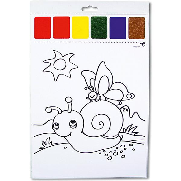 Набор для раскрашивания акварелью Улитка и бабочкаНаборы для раскрашивания<br>Характеристики товара:<br><br>• материал: картон<br>• размер: 22х32 см<br>• вес: 26 г<br>• комплектация: раскраска, палитра красок 6 цветов<br>• развивающая<br>• возраст: от трех лет<br>• страна бренда: Финляндия<br>• страна изготовитель: Китай<br><br>Такая раскраска станет отличным подарком малышам! Она отличается тем, что прямо на ней - акварельные краски! В палитре - 6 самых популярных оттенков, которых хватит для раскрашивания картинки. Изображения крупные, поэтому даже малышам будет легко их раскрасить. С помощью раскрашивания ребенок не только весело проведет время, он будет тренировать внимательность, абстрактное мышление, логику, усидчивость, мелкую моторику и творческие способности. <br>Раскраска выпущена в удобном формате. Изделие производится из качественных и проверенных материалов, которые безопасны для детей.<br><br>Набор для раскрашивания акварелью Улитка и бабочка от бренда KriBly Boo можно купить в нашем интернет-магазине.<br>Ширина мм: 320; Глубина мм: 215; Высота мм: 3; Вес г: 26; Возраст от месяцев: 36; Возраст до месяцев: 84; Пол: Унисекс; Возраст: Детский; SKU: 5167829;