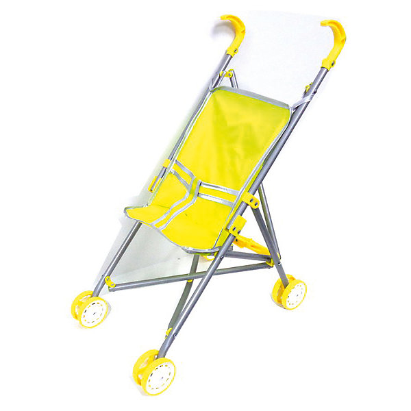 Junfa Коляска для куклы, желтый цвет, JUNFA коляска для куклы cavallino ромашка
