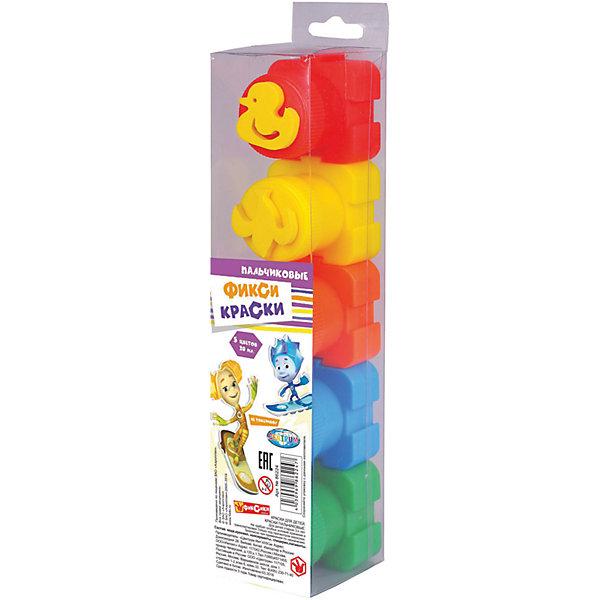 Купить Пальчиковые краски Фиксики со штампами, 5 цветов *20 мл, CENTRUM, Китай, Унисекс