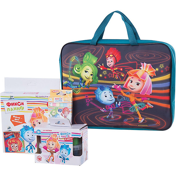 Набор для творчества Фиксики (4 предмета)Популярные игрушки<br>Набор для творчества Фиксики (4 предмета), Centrum (Центрум)<br><br>Характеристики:<br><br>• содержит всё необходимое для веселого отдыха<br>• удобная упаковка<br>• в комплекте: пальчиковые краски (4 цвета по 40 мл), цветной мел (6 цветов), панно из пластилина, сумка-папка<br>• размер: 35х26х4 см<br>• вес: 750 грамм<br><br>Набор Фиксики содержит всё необходимое для интересного времяпровождения. Ребенок может выбрать себе любое занятие: рисовать пальчиковыми красками, мелом или создать объемную картинку из пластилина. Все предметы упакованы в удобную текстильную сумку. С Фиксиками время пролетит незаметно!<br><br>Набор для творчества Фиксики (4 предмета), Centrum (Центрум) вы можете купить в нашем интернет-магазине.<br>Ширина мм: 50; Глубина мм: 360; Высота мм: 280; Вес г: 750; Возраст от месяцев: 36; Возраст до месяцев: 120; Пол: Унисекс; Возраст: Детский; SKU: 5175377;