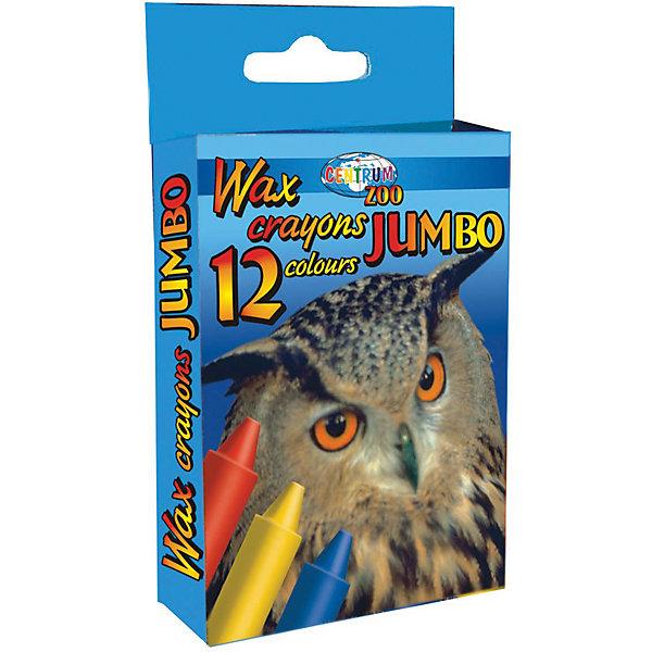 CENTRUM Мелки восковые JUMBO, 12 цветов карандаши восковые мелки пастель carioca карандаши jumbo 12 цветов