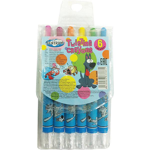 Мелки восковые выдвижные Twist, 6 цветовМасляные и восковые мелки<br>Мелки восковые выдвижные Twist, 6 цветов<br><br>Характеристики:<br><br>- в набор входит: 6  мелков<br>- состав: пластик, восковые мелки на масляной основе<br>- размер упаковки: 7 * 1 * 15,5 см.<br>- для детей в возрасте: от 3 до 6 лет<br>- страна производитель: Китай<br><br>Набор выдвижных мелков из воска на масленой основе от немецкого бренда Centrum (Центрум) придет по вкусу как продвинутым художникам, так и начинающим. Рисунок мелками ложится на бумагу, картон, дерево. Пластиковый корпус позволяет оставлять ручки чистыми и оставлять рисунок, только на поверхности. Линии мелков насыщенные и яркие, почти как у фломастеров. При нанесении мелки не осыпаются и надолго сохраняют яркость цветов. Набор включает стандартные шесть цветов, открывая просторы для творчества и вдохновляя на создание новых шедевров. Работая с восковыми мелками дети развивают творческие способности, аккуратность, моторику рук, усидчивость, восприятие цвета и выражают свой внутренний мир в рисунках. <br><br>Мелки восковые выдвижные Twist, 6 цветов можно купить в нашем интернет-магазине.<br>Ширина мм: 10; Глубина мм: 70; Высота мм: 155; Вес г: 49; Возраст от месяцев: 36; Возраст до месяцев: 120; Пол: Унисекс; Возраст: Детский; SKU: 5175470;
