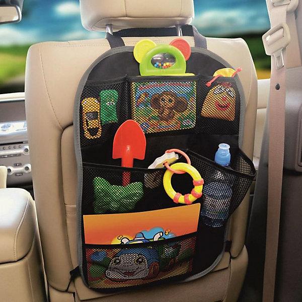 Siger Органайзер на спинку сиденья ORG-3 с сетчатыми карманами, Siger путешествие с ребенком топотушки органайзер на спинку сиденья