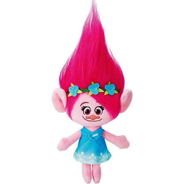 Мягкая игрушка Розочка, ТроллиМягкие игрушки из мультфильмов<br>Тролли из плюша - Поппи.<br><br>Характеристики:<br><br>• Комплект: фигурка тролля.<br>• Материал: плюш.<br>• Размер игрушки – 35 см.<br><br>Тролли из плюша от торговой марки Hasbro созданы по мотивам известного мультипликационного фильма  Trolls.  Милые крошечные существа живут в чудесном мире танцев, песен и обнимашек. У них очаровательные мордашки с круглыми глазками и разноцветные яркие волосы. Тролль из плюша Поппи (Poppy) – это очень милая девочка. Мягкая розовая кукла с прекрасными длинными ярко-розовыми волосами, которые зачесаны кверху, станет отличным подарком девочке. Она сможет сама расчесать их, а также сделать ей всевозможные прически. Волосы украшены зеленой диадемой с тремя цветочками. Высота Поппи с учетом ее длинных волос – 35 сантиметров. Игрушка выполнена из качественных материалов - текстиля и плюша. Собери всю коллекцию троллей!<br><br>Тролли из плюша – Поппи, можно купить в нашем интернет - магазине.<br>Ширина мм: 70; Глубина мм: 165; Высота мм: 356; Вес г: 268; Цвет: розовый; Возраст от месяцев: 48; Возраст до месяцев: 96; Пол: Унисекс; Возраст: Детский; SKU: 5177812;