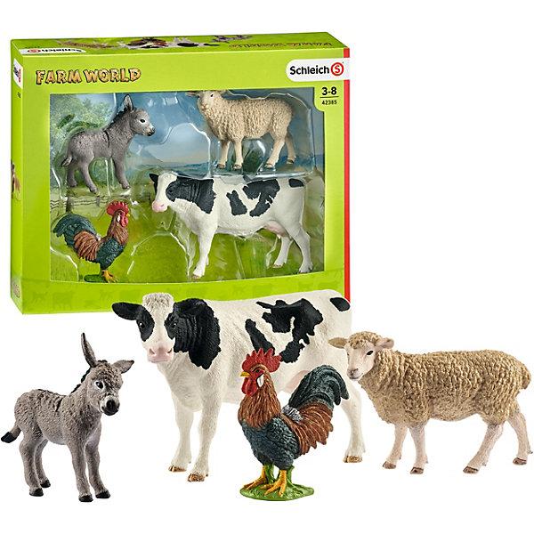 Schleich Коллекционный набор фигурок Schleich Животные с фермы Животные фермы schleich schleich гигантская черепаха серия дикие животные