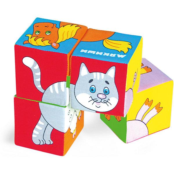 Мякиши Кубики Собери картинку - домашние животные, Мякиши мякиши игрушка собери картинку ягоды фрукты овощи
