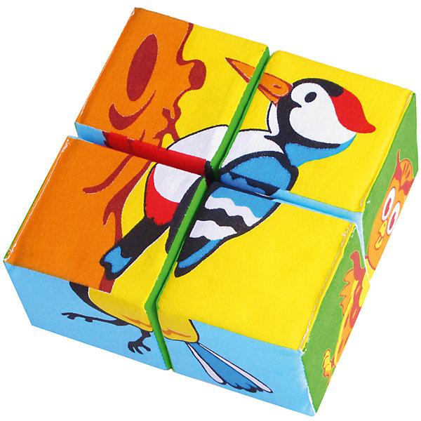 Мякиши Кубики Собери картинку - птицы, Мякиши кубики русские деревянные игрушки игрушки д482а 4 шт