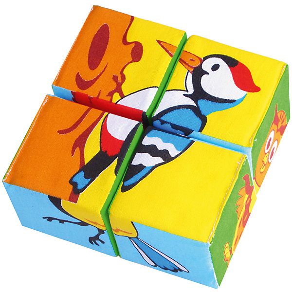 Мякиши Кубики Собери картинку - птицы, Мякиши мякиши игрушка собери картинку ягоды фрукты овощи