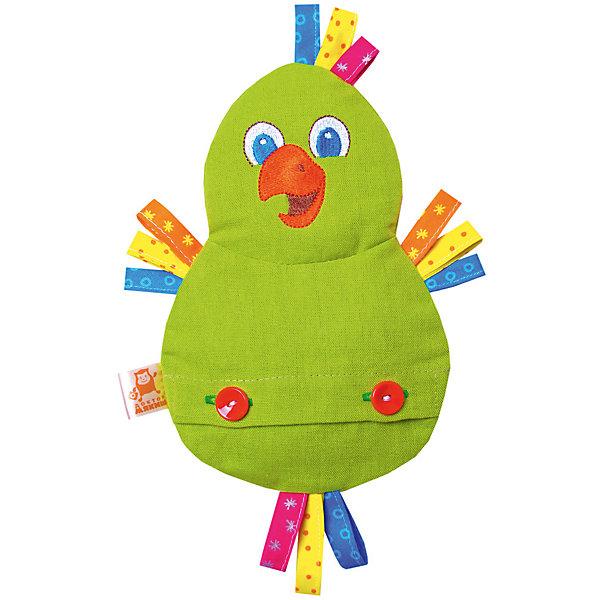 Игрушка на руку Доктор Мякиш-Попугай, МякишиМягкие игрушки на руку<br>Характеристики товара:<br><br>• материал: лён, вишнёвые косточки, вышивка, холлофайбер, хлопок<br>• комплектация: 1 шт<br>• размер игрушки: 18х27х4 см<br>• размер упаковки: 18х32х4 см<br>• развивающая игрушка<br>• упаковка: ламинированный картонный холдер<br>• вишневые косточки внутри<br>• страна бренда: РФ<br>• страна изготовитель: РФ<br><br>Малыши активно познают мир и тянутся к новой информации. Чтобы сделать процесс изучения окружающего пространства интереснее, ребенку можно подарить развивающие игрушки. В процессе игры информация усваивается намного лучше!<br>Такие термоигрушки содержат внутри мешочек с вишневыми косточками, которые можно нагреть или остудить, после чего вложить в игрушку. Также изделия помогут занять малыша, играть с ними приятно и весело. Одновременно игрушка позволит познакомиться с разными цветами и фактурами. Такие игрушки развивают тактильные ощущения, моторику, цветовосприятие, логику, воображение, учат фокусировать внимание. Каждое изделие абсолютно безопасно – оно создано из качественной ткани с мягким наполнителем. Игрушки производятся из качественных и проверенных материалов, которые безопасны для детей.<br><br>Термоигрушку Доктор Мякиш-Попугай от бренда Мякиши можно купить в нашем интернет-магазине.