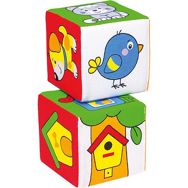 Мякиши Кубик Чей домик?, Мякиши набор из 2 кубиков мякиши чей детеныш в кор 40наб