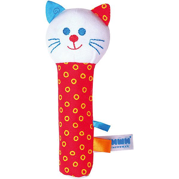Погремушка Котик, МякишиИгрушки для новорожденных<br>Характеристики товара:<br><br>• материал: разнофактурный текстиль, холлофайбер<br>• комплектация: 1 шт<br>• размер игрушки: 15х20 см<br>• звуковой элемент<br>• развивающая игрушка<br>• упаковка: ламинированный картонный холдер<br>• страна бренда: РФ<br>• страна изготовитель: РФ<br><br>Малыши активно познают мир и тянутся к новой информации. Чтобы сделать процесс изучения окружающего пространства интереснее, ребенку можно подарить развивающие игрушки. В процессе игры информация усваивается намного лучше!<br>Такие игрушки помогут занять малыша, играть ими приятно и весело. Одновременно они позволят познакомиться со многими цветами, фактурами, а также научиться извлекать звук. Подобные игрушки развивают тактильные ощущения, моторику, цветовосприятие, логику, воображение, учат фокусировать внимание. Каждое изделие абсолютно безопасно – оно создано из качественной ткани с мягким наполнителем. Игрушки производятся из качественных и проверенных материалов, которые безопасны для детей.<br><br>Погремушку Котик от бренда Мякиши можно купить в нашем интернет-магазине.