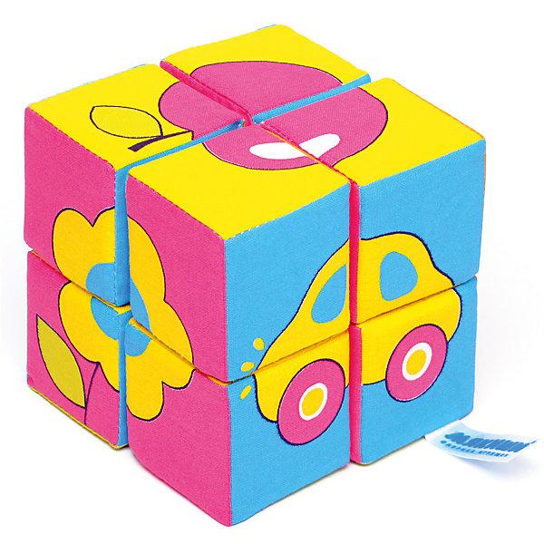 Кубики Собираем картину - предметы, МякишиРазвивающие игрушки<br>Характеристики товара:<br><br>• материал: хлопок, поролон<br>• комплектация: 8 шт<br>• размер игрушки: 5 см<br>• можно собрать шесть картинок<br>• развивающая игрушка<br>• упаковка: картон<br>• страна бренда: РФ<br>• страна изготовитель: РФ<br><br>Малыши активно познают мир и тянутся к новой информации. Чтобы сделать процесс изучения окружающего пространства интереснее, ребенку можно подарить развивающие игрушки. В процессе игры информация усваивается намного лучше!<br>Такие кубики помогут занять малыша, играть ими приятно и весело. Одновременно они позволят познакомиться со многими цветами, фактурами, а также из них можно собрать шесть предметов. Такие игрушки развивают тактильные ощущения, моторику, цветовосприятие, логику, воображение, учат фокусировать внимание. Каждое изделие абсолютно безопасно – оно создано из качественной ткани с мягким наполнителем. Игрушки производятся из качественных и проверенных материалов, которые безопасны для детей.<br><br>Кубики Собери картинку - предметы от бренда Мякиши можно купить в нашем интернет-магазине.