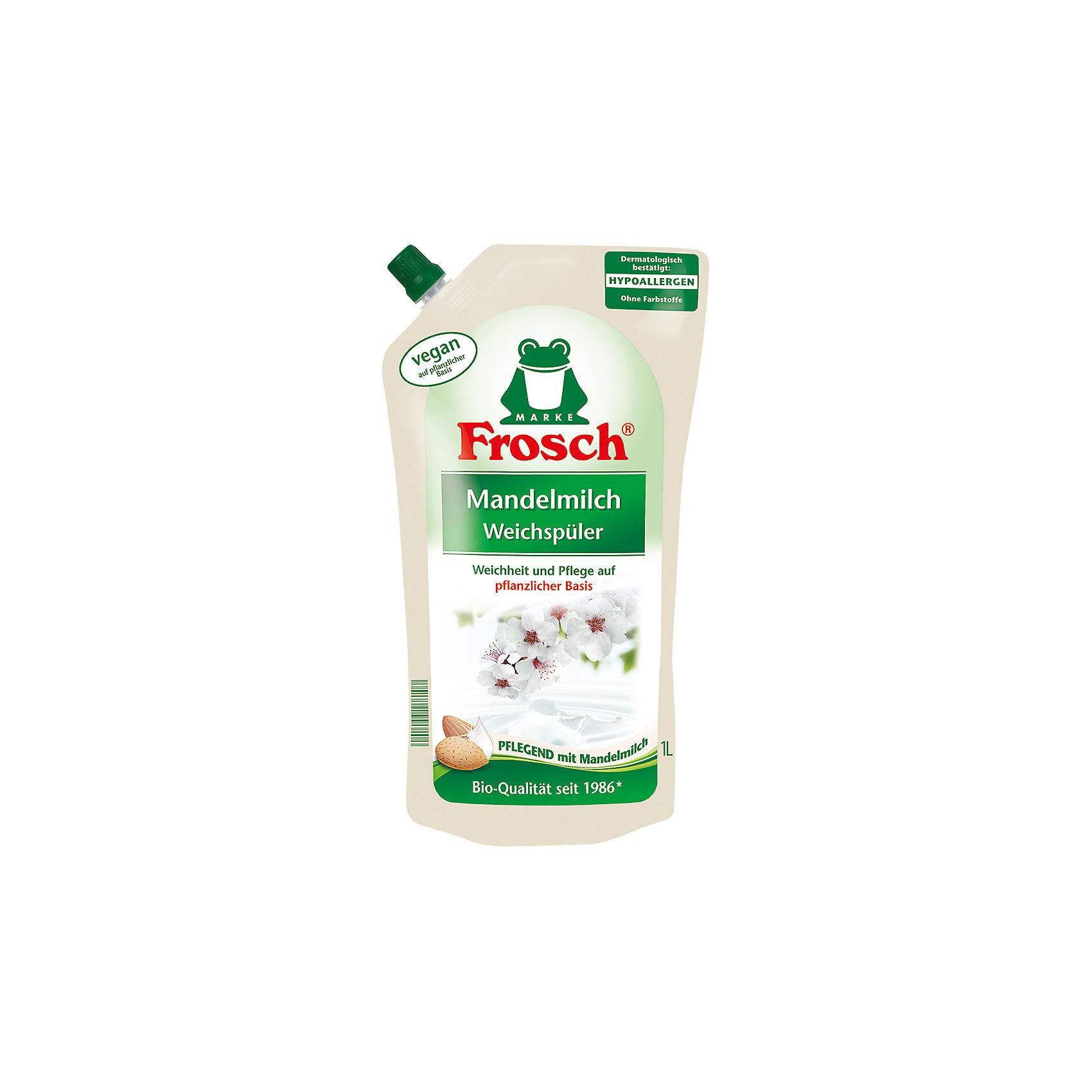 Концентрированный ополаскиватель для белья (Миндальное молочко), 1 л, Frosch (-)