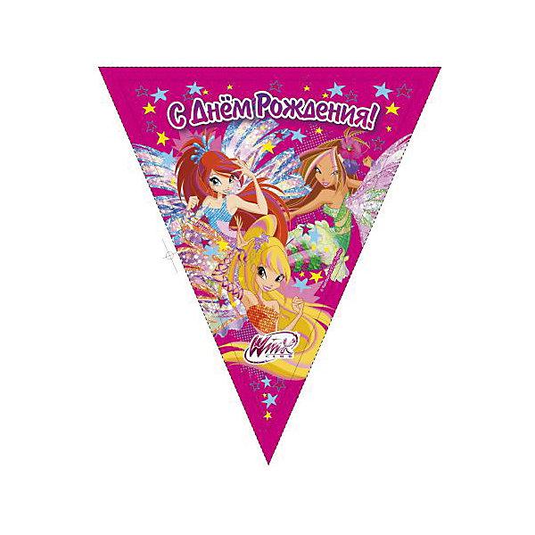 Веселый праздник Гирлянда-флаги Winx Club