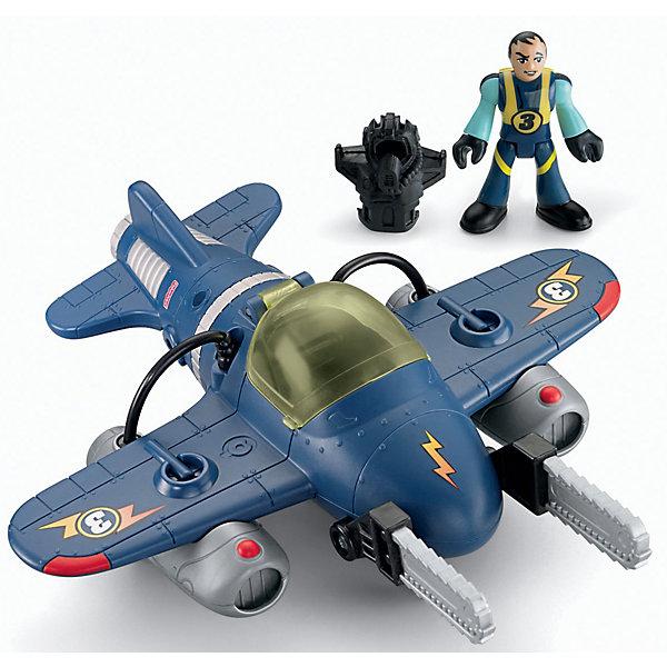 Летательный аппарат Twister Jet, Imaginext, Fisher PriceФигурки из мультфильмов<br>Характеристики:<br><br>• Вид игр: сюжетно-ролевые игры<br>• Пол: для мальчиков<br>• Серия: Imaginext<br>• Материал: пластик<br>• Цвет: синий, черный, серебристый<br>• Комплектация: фигурка пилота, истребитель, 3 ракеты<br>• Размеры (Д*Ш*В): 8*18*24 см<br>• Вес: от 340 г <br>• Упаковка: картонная коробка<br><br>Летательный аппарат Twister Jet, Imaginext, Fisher Price – это игровой набор, состоящий из фигурки пилота с обмундированием, истребителя и аксессуаров от знаменитого производителя Mattel. Игрушки выполнены из качественного и безопасного пластика, устойчивого к механическим повреждениям. Все элементы окрашены нетоксичными красками. Самолет оснащен реактивными двигателями и задвигающимися шасси. У летательного аппарата предусмотрена открывающаяся кабина, в которую можно посадить пилота.<br>Сюжетно-ролевые игры с наборами серии Imaginext от Fisher Price позволят окунуться вашему ребенку в увлекательный мир авиации, создавать и воспроизводить свои истории, полные захватывающих приключений и удивительных спасений.<br><br>Летательный аппарат Twister Jet, Imaginext, Fisher Price можно купить в нашем интернет-магазине.<br>Ширина мм: 190; Глубина мм: 205; Высота мм: 90; Вес г: 340; Возраст от месяцев: 36; Возраст до месяцев: 96; Пол: Мужской; Возраст: Детский; SKU: 5200252;