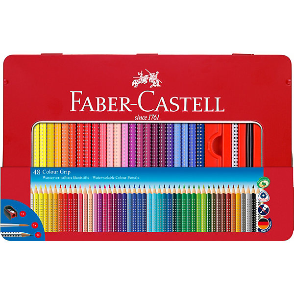 Faber-Castell Цветные карандаши Faber-Castell Grip, 48 цветов faber castell цветные карандаши faber castell jumbo grip metallic 5 цветов