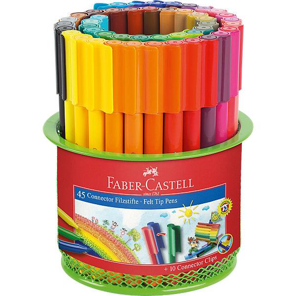 фломастеры faber castell connector 60цв смываемые соединяемые колпачки пластик уп европодв Faber-Castell Набор для рисования Faber-Castell Connector