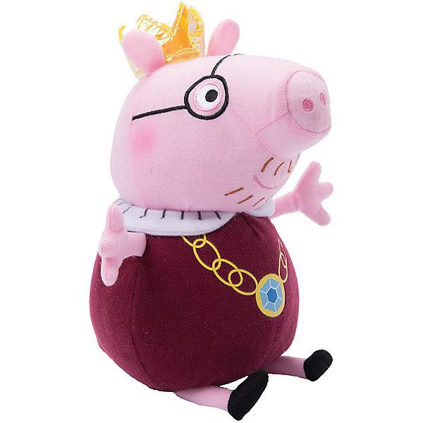 Росмэн Мягкая игрушка Папа-Свин король, 30 см, Peppa Pig мягкая игрушка свинка росмэн свинка пеппа джордж морячок плюш текстиль пластик розовый 25 см