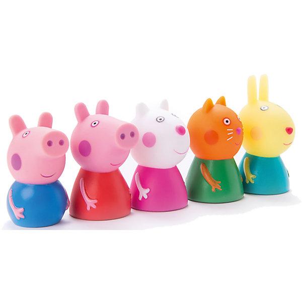 Пальчиковый театр 5 фигурок, Peppa PigКоллекционные и игровые фигурки<br>Пальчиковый театр, 5 фигурок, Peppa Pig (Свинка Пеппа). <br><br>Характеристика:<br><br>• Материал: пластик.<br>• Размер упаковки: 30х29х14 см. <br>• Высота фигурки: 5-6 см. <br>• 5 пальчиковых кукол в комплекте: Свинка Пеппа, Малыш Джордж, Котенок Кенди, Овечка Сьюзи и Кролик Ребекка. <br>• Помогает развить моторику рук, воображение и фантазию. <br><br>Хочешь не только смотреть мультфильмы Peppa Pig, но и поучаствовать в представлении с участием любимых героев? Тогда этот набор специально для тебя! С помощью пяти пальчиковых фигурок ваш малыш сможет разыграть понравившиеся сцены из мультфильма или придумать свои захватывающие сюжеты.<br><br>Пальчиковый театр, 5 фигурок, Peppa Pig (Свинка Пеппа) можно купить в нашем интернет-магазине.<br>Ширина мм: 215; Глубина мм: 180; Высота мм: 8; Вес г: 90; Возраст от месяцев: 36; Возраст до месяцев: 2147483647; Пол: Унисекс; Возраст: Детский; SKU: 5211688;