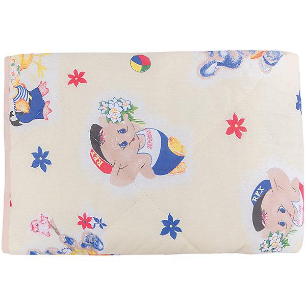 Letto Одеяло-покрывало стеганое SP21, Letto одеяло стеганое из хлопковой вуали с рисунком колорблок